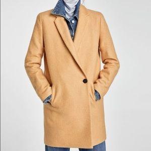 Zara Soft Coat in Camel